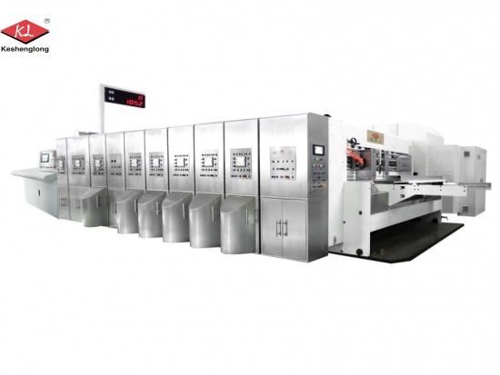 corrugated carton box flexo printing slotting die cutting machine