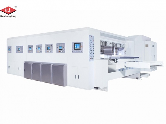 Automatic Chain Feeder Corrugated Carton Flexo Printing Slotting Die Cutting Machine