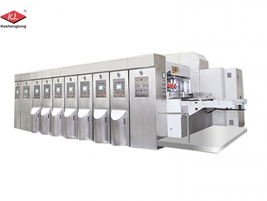 Automatic Corrugated Cardboard Carton 2 Color Flexo Printing Machine